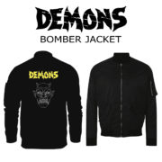 bomber jacket demons black