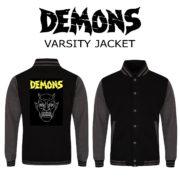 varsity jacket black