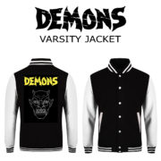 varsity jacket black white